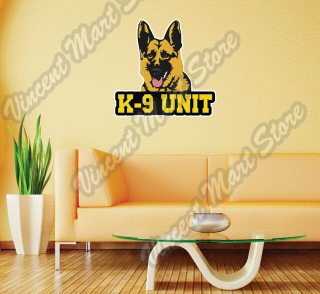 Euro K9 Police Dog Graphic Decal Sticker Wall Car Oval NOT Two Colors