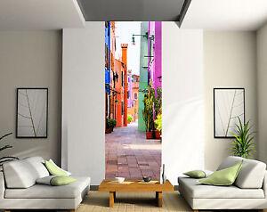 Papier peint déco lé unique Rue couleur réf 2048 ( 3 dimensions ) | eBay