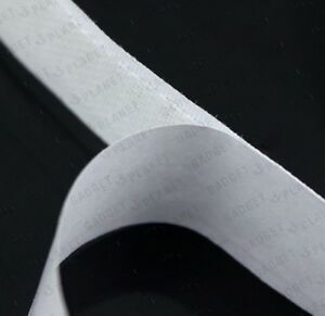 WHITE-Premium-1m-Hook-And-1m-Loop-2mtrs-x-20mm-Self-Adhesive-Sticky-Tape-School