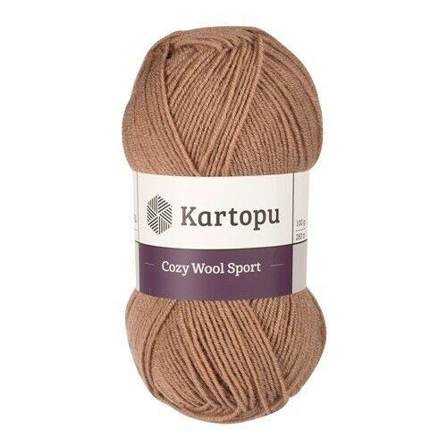 El aclaramiento 500 gramos kartopu acogedor lana Sport hilo de ganchillo 25/% lana//75/% Acrílico