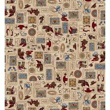 HOLD 'EM or FOLD 'EM Western Tan Quilt Fabric Maywood Studio by 1/2 yd #8380-E