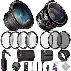 52MM-Profesional-Kit-de-accesorios-para-Nikon-DSLR-Paquete-Con-Lentes-Altura-Foto