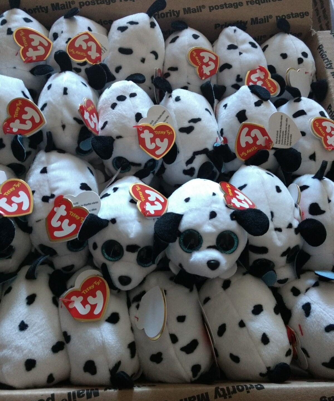72 pcs Wholesale lot Teeny Tys Spangle Dalmatian Dog PlushToy Beanie Babies