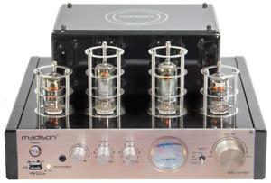 MADISON MAD-TA10BT STEREO RÖHRENVERSTÄRKER 2x25W BLUETOOTH SOUND BASS TV MP3 USB
