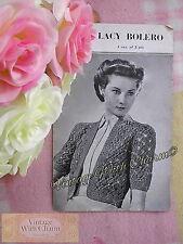 Vintage 1940s Knitting Pattern Girls /'Bettine/' Dress /& Knickers FREE UK P/&P!