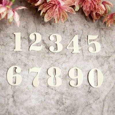 10Pcs Numbers Metal Cutting Dies for DIY Scrapbooking Album//photo Card Making Jn
