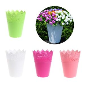 Image is loading Solid-Color-Floral-Hhollow-Design-Plastic-Flower-Vase-  sc 1 st  eBay : plastic flower vase - startupinsights.org