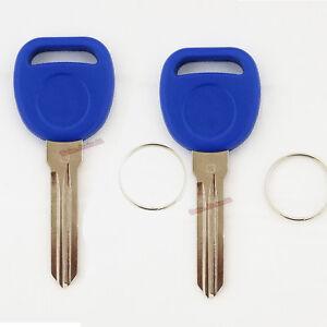 2-New-Blue-B111-Transponder-Chipped-Keys-For-Gm-Vehicles-DIY-Programming-ID46