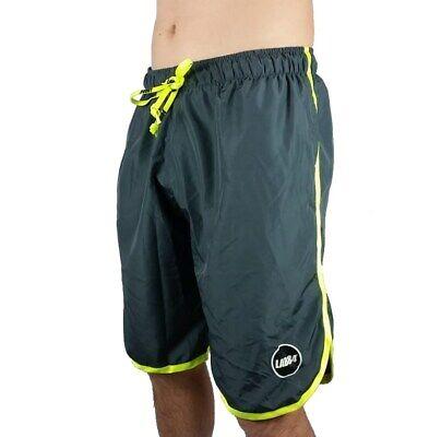 Lab84 Pantaloncini Corti Costume Shorts Da Mare Sport S8 Shm1002fluo Piombo 4089 Qualità Eccellente