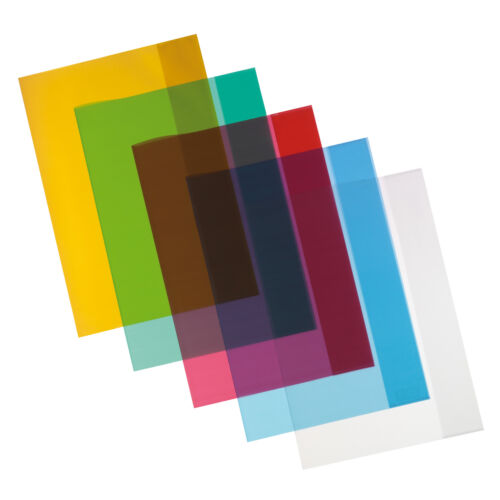 Hefthüllen DIN A4 5 verschiedene Farben 10 Herlitz Heftumschläge