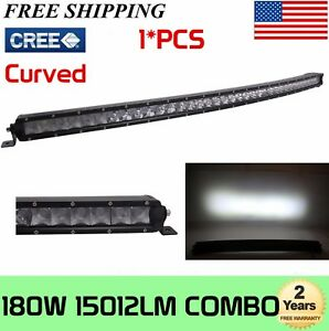 37''Inch 180W Curved LED Work Light Bar Combo offroad UTE 4WD Boat Driving Truck