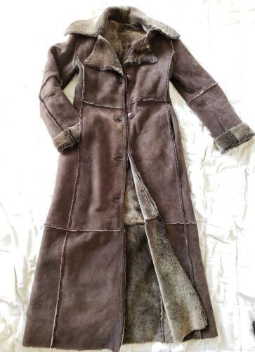 Workshop NY full length shearling coat lightweigh… - image 1
