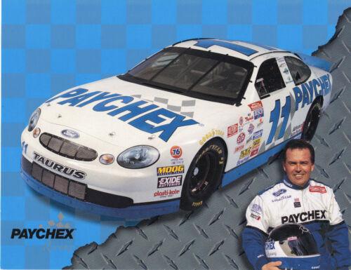 1998 BRETT BODINE PAYCHEK #11 NASCAR POSTCARD