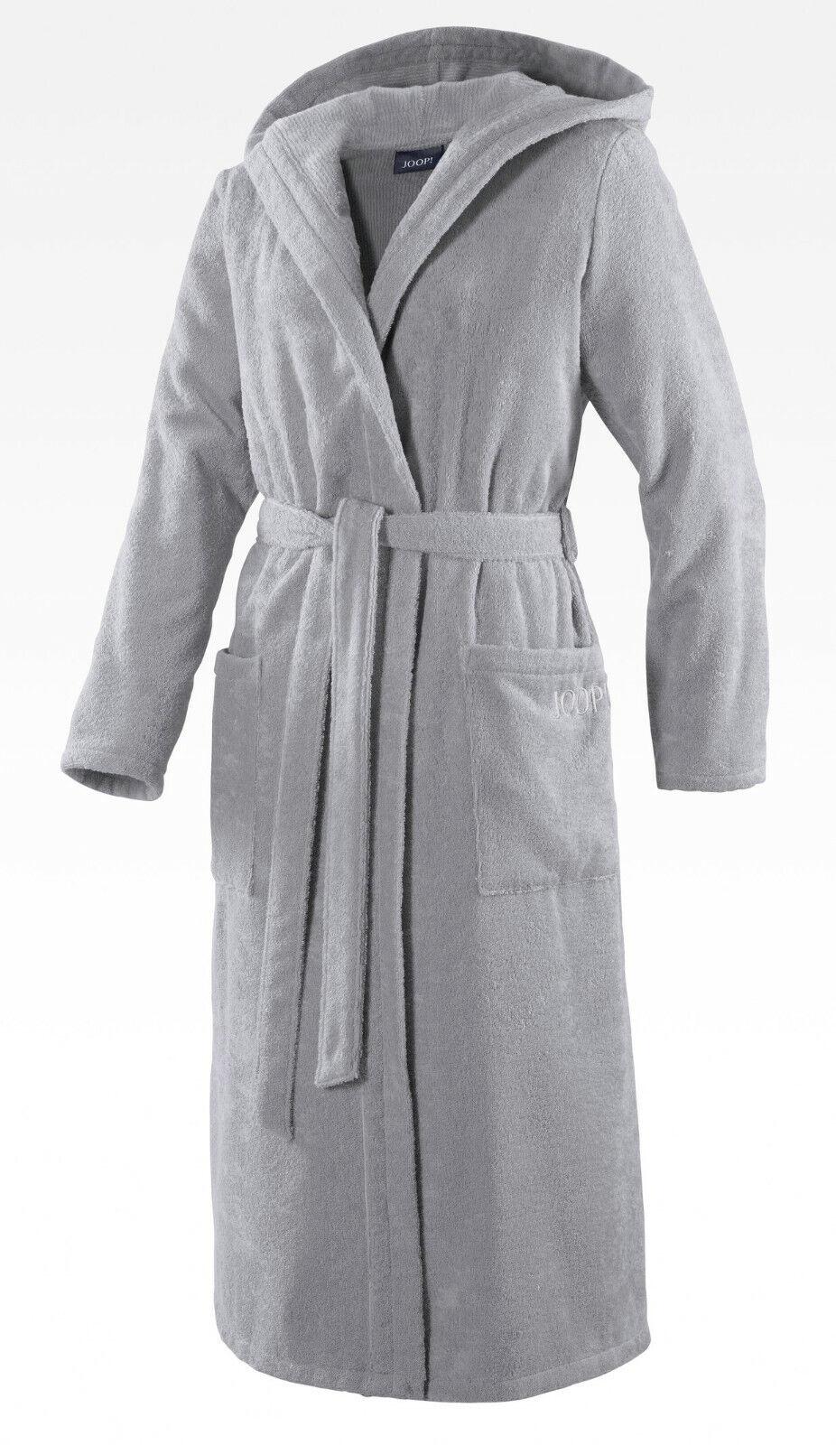 JOOP! 1617 Damen Bademantel mit Kapuze Größe 36/38 S Farbe Silber 76 NEU