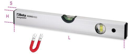 Beta 1696B//200 Anodized Profiled Aluminium Spirit Level With Magnetic Base 200mm