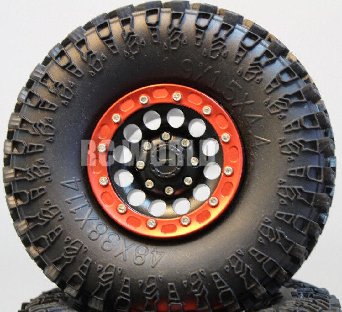 Para Jeep honcho axial SCX10 Scorpion Rockcrawler beadlock Metal Wheels swampers