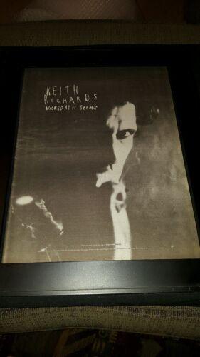 Keith Richards Wicked As It Seems Rare Original Radio Promo Poster Ad Framed!