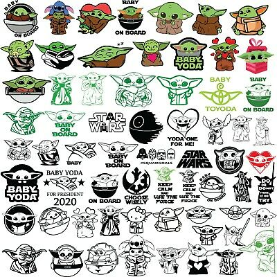 Cricut Star Wars With Baby Yoda Svg Png Dxf Digital Files Ebay