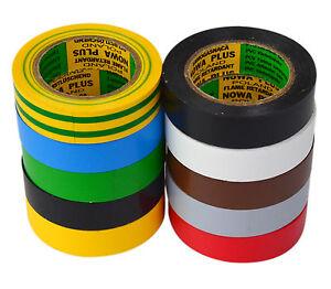 Alerte Ruban Isolant 10 Rouleaux Longueur: 10m Largeur: 15mm Différentes Couleurs Isoband-afficher Le Titre D'origine