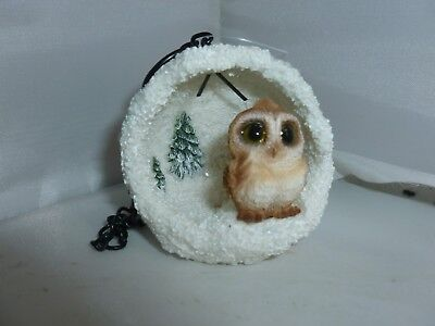 BRAND NEW LARGE  SNOWY OWL SNOWBALL GARDEN ORNAMENT CHRISTMAS