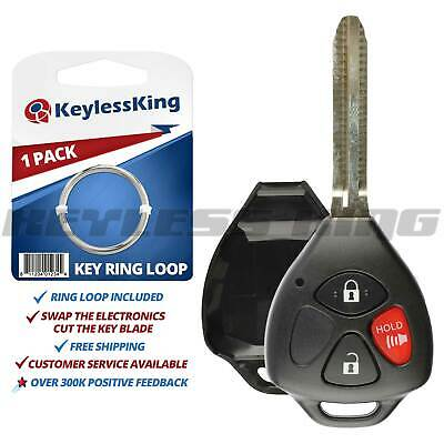 New Remote Key Keyless Fob Repalcement Case Uncut Blank Blade Shell 4 Button
