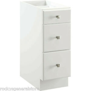 bathroom vanity drawer base thermofoil cabinet white 12 034 15 034 18