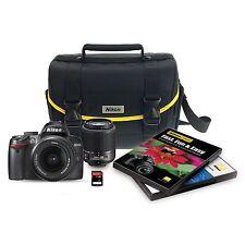 Nikon D3000 10.2 MP Digital SLR 6 Piece Bundle w/ 18-55mm & 55-200mm Zoom Lens