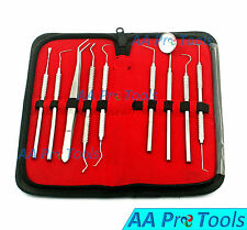 Set Of 9 Premium Grades Scaler Pick Pliers Scraper Probe Dental Mirror Etc
