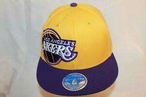 Los-Angeles-Lakers-Hat-FlexCap-034-The-Side-Patch-Flexfit-Cap-034-By-Adidas-NBA-Hats