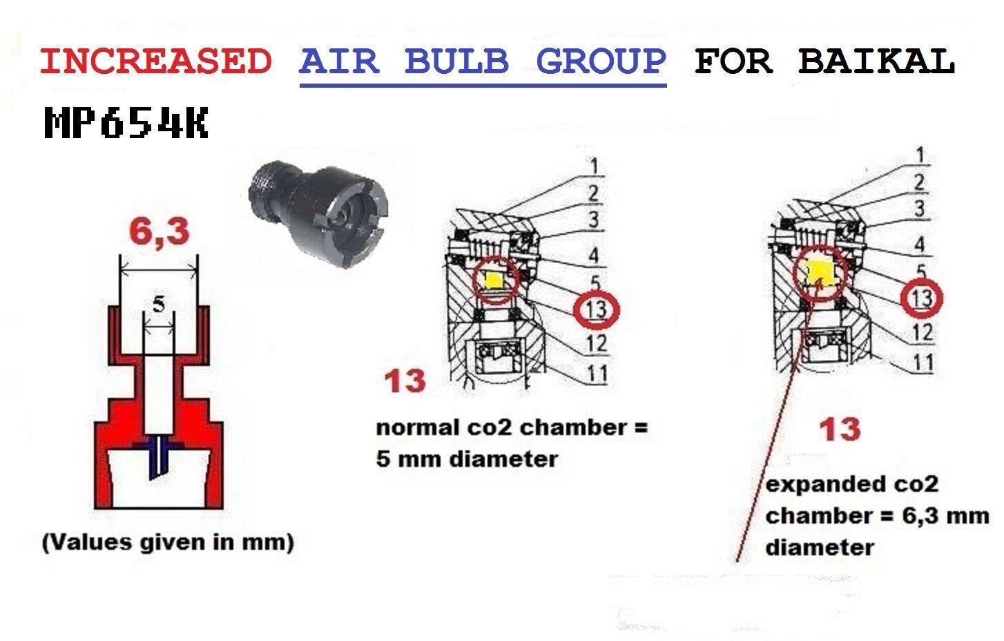 MP654K MAK. TUNING AIR BULB INTERNAL DIAMETER  mm 6,3 - INCH 0,248