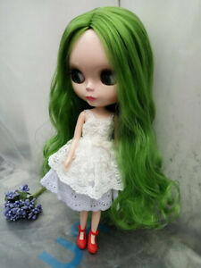 "12/"" Neo Blythe Doll From Factory Nude Doll Matte Face Mint Green Hair With Bang"
