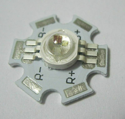 1-100pcs x 3W RGB Color 6pin LED Chip LED Light Lamp Part With 20mm Star Base
