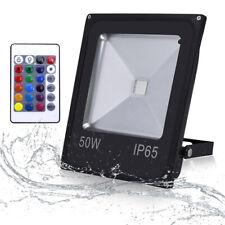 RGB LED Außenstrahler Dimmer Park Hof Steckleuchte Fernbedienung DxH 9,2x31,5 cm