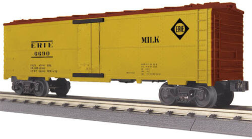 2014 MTH O Gauge ERIE MODERN REEFER MILK CAR #6690, yellow new in box
