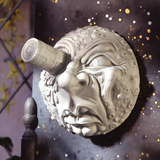 A Trip to the Moon Resin Antique Stone Early French Film Finish Wall Sculpture