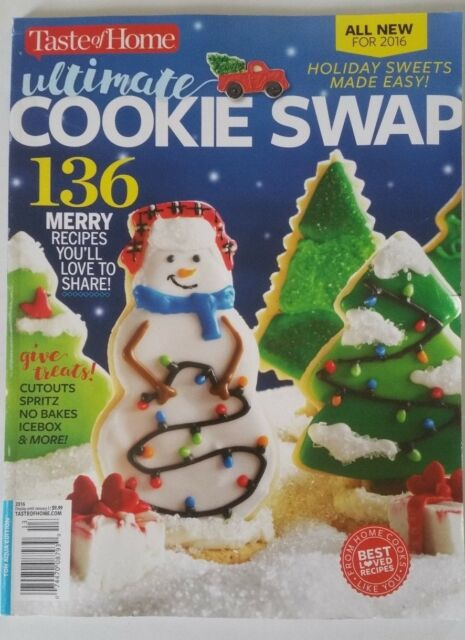 Recipe Magazine Ultimate Cookie Swap Winter 2016 Taste Of Home 136 Recipes