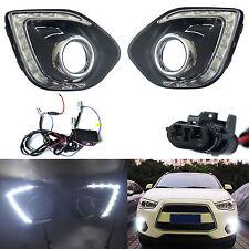 2pcs LED Daytime Fog Light DRL Lamp For Mitsubishi ASX Outlander Sport 2013-2015