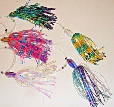 5 LURES SALTWATER FISHING LURE TUNA,WAHOO,MARLIN,DOLPHIN,DORADO,MAHI LOT MIX