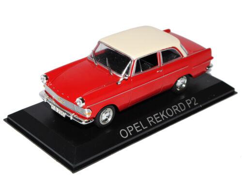 Opel Rekord P2 Limousine Rot Beige 1//43 Modellcarsonline Modell Auto mit oder ..