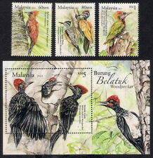 2013 MALAYSIA WOODPECKER BIRDS (3v+M/S) MNH
