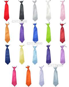 Solid-Classic-Vintage-Childrens-Kid-Neck-Tie-Necktie-Boys-Girls-YHD0001a