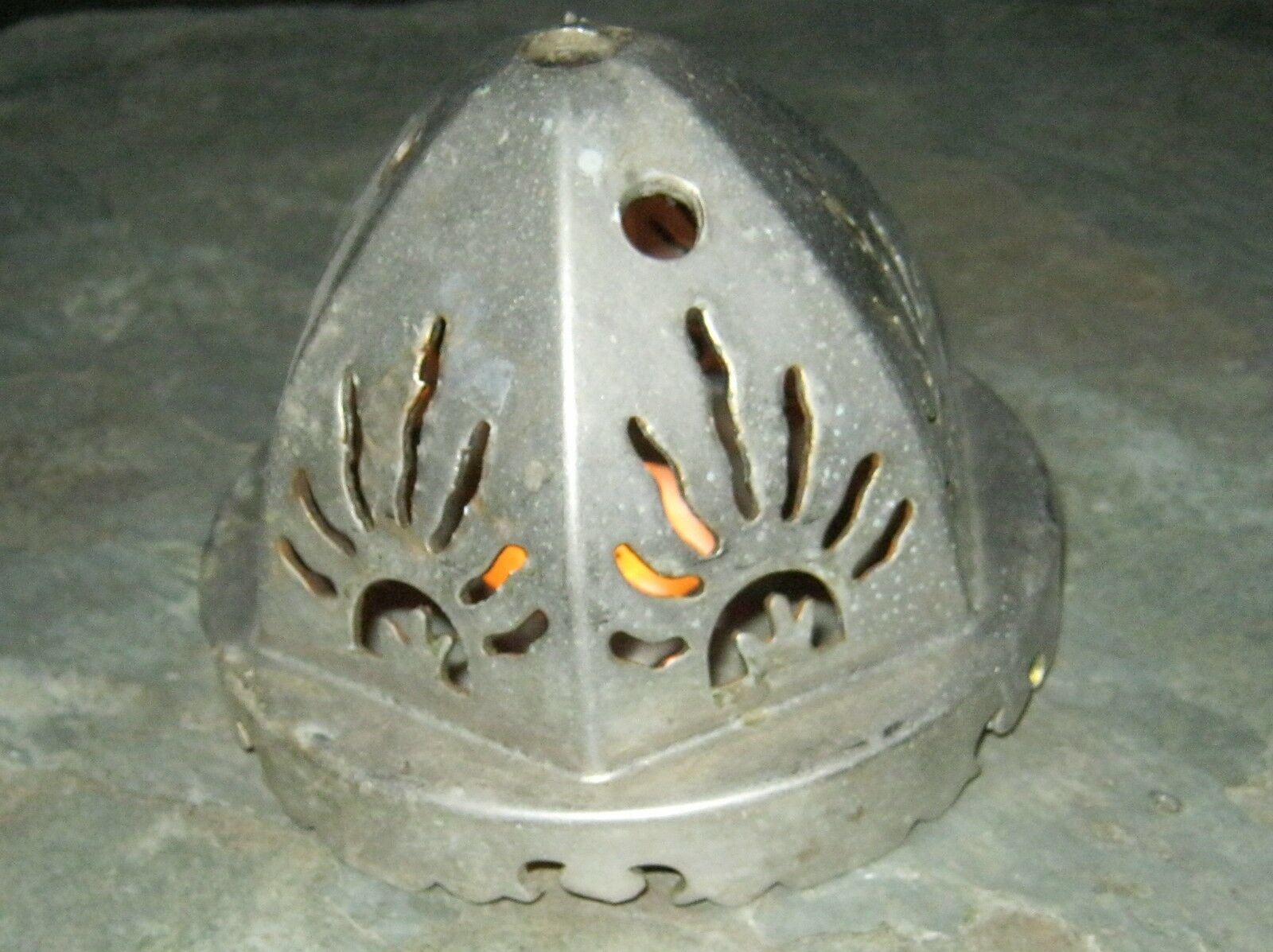 Antique Candle  Tea Light Holder Incense Church Solar Flame Steampunk     629-12
