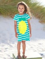NEW MINI BODEN SUMMER jersey cotton DRESS blue white stripe lemon print 18m -7 y