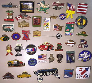 Rare-Obscure-VINTAGE-039-80s-amp-039-90s-42-PIN-Collection-USA-INT-039-L-CORP-SOUVENIR-BUD