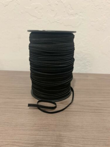 """1//4 inch Knit Elastic 20 YARDS BLACK .25 inch quarter inch 1//4/"""" Elastic Sew"""