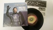 """RINGO STARR """"ONLY YOU"""" with insert Japan 7"""" vinyl Beatles"""