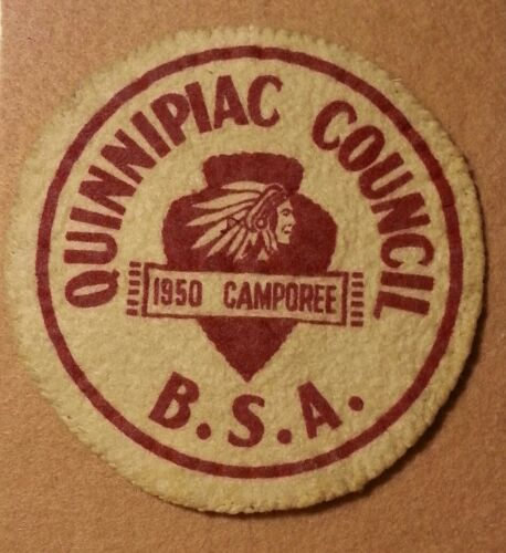 VINTAGE BSA QUINNIPIAC COUNCIL 1950 CAMPOREE FELT PATCH B00138