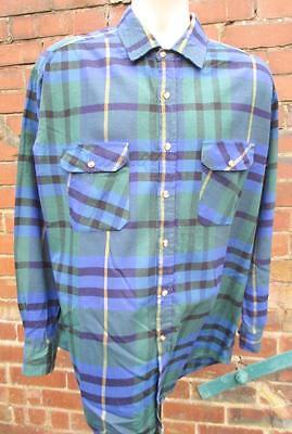 Adattabile L-vintage Anni'70 Da Uomo Blu Green Check Camicia Lumberjack Camicia Di Flanella Grunge-c631-mostra Il Titolo Originale 2019 Nuovo Stile Di Moda Online