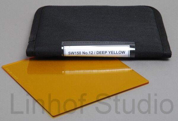 Lee Filters 150x150mm No. 12 Deep Yellow Black and White Resin Filter for SW150