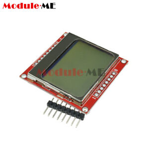 84-48-84x48-LCD-Module-White-Backlight-Adapter-PCB-for-Nokia-5110-Arduino